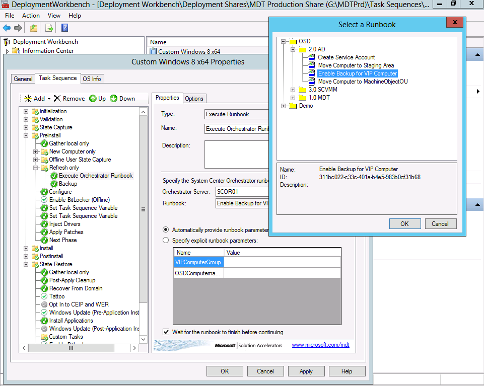 Using Runbooks as part of a Task Sequence–Part 1 – The