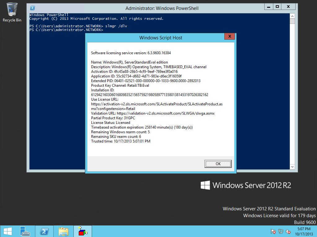 windows server 2012 r2 essentials change product key activation
