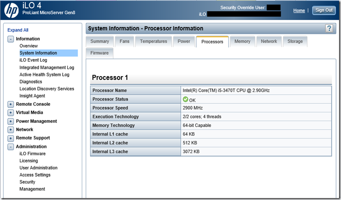 HP Proliant Microserver Gen 8 - I5
