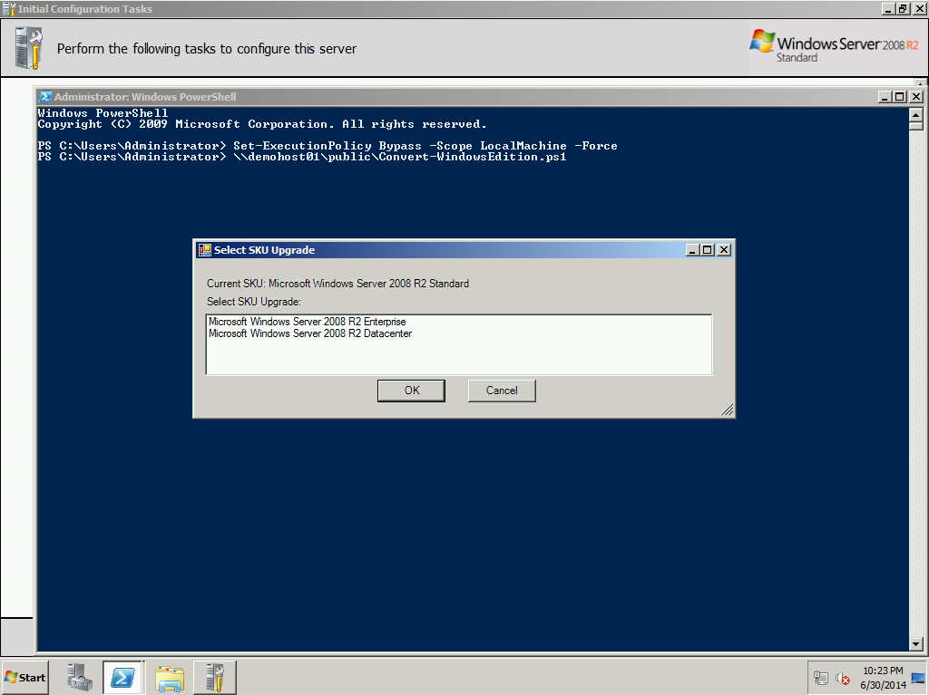 PowerShell is King–Convert Windows Server Editions using a UI based