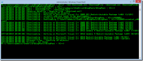 PowerShell is King – Download all VC++ runtimes using a