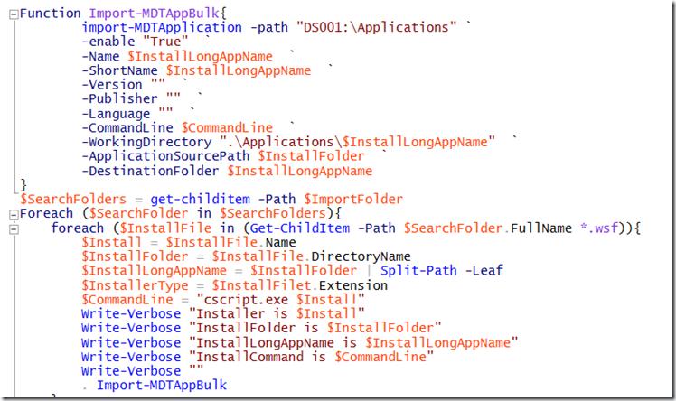 PowerShell is King – Bulk import applications I MDT – The