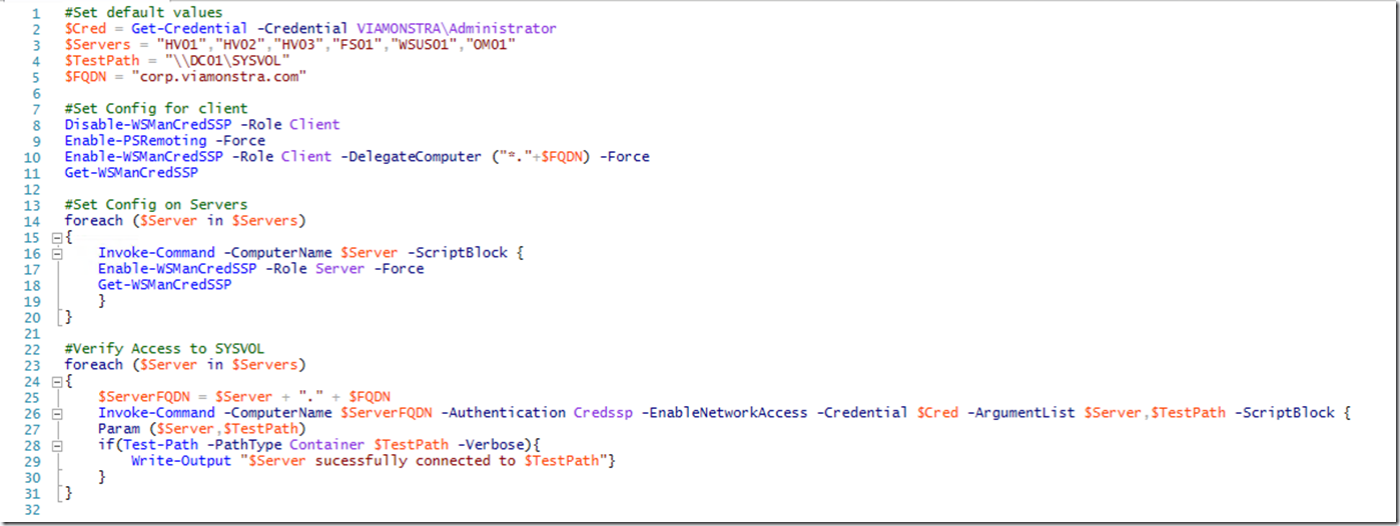 powershell execute script on remote machine with credentials