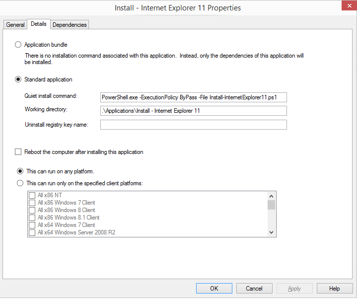 OSD – Install IE 11 in the ref image like a pro using a PowerShell
