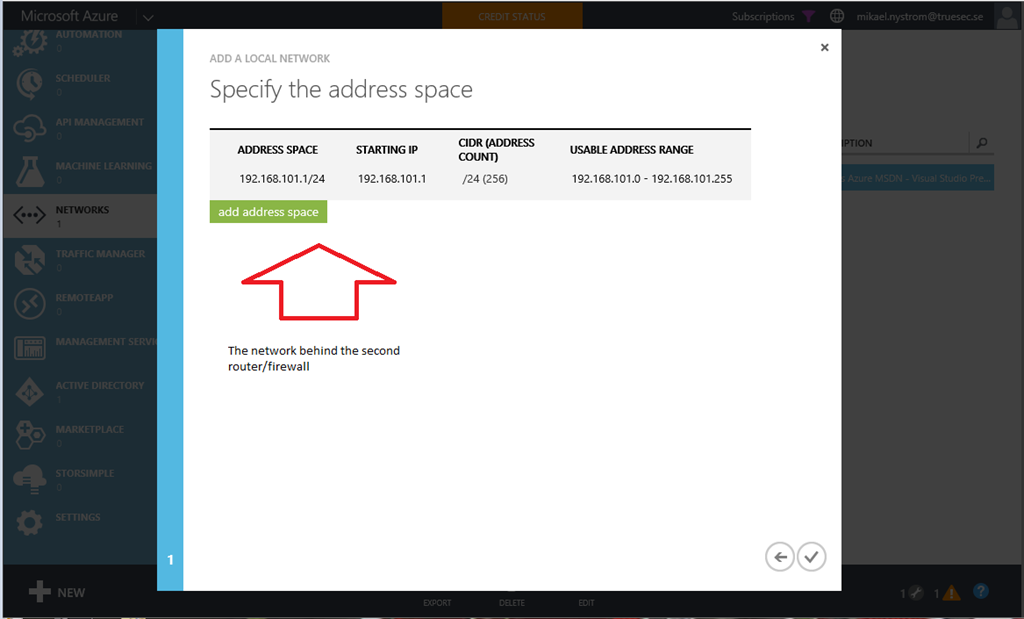 Beyond Supported – Azure Site-2-Site VPN (with physical router