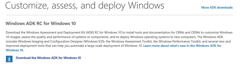 Nice to Know – Windows 10 OS Deployment links – The Deployment Bunny