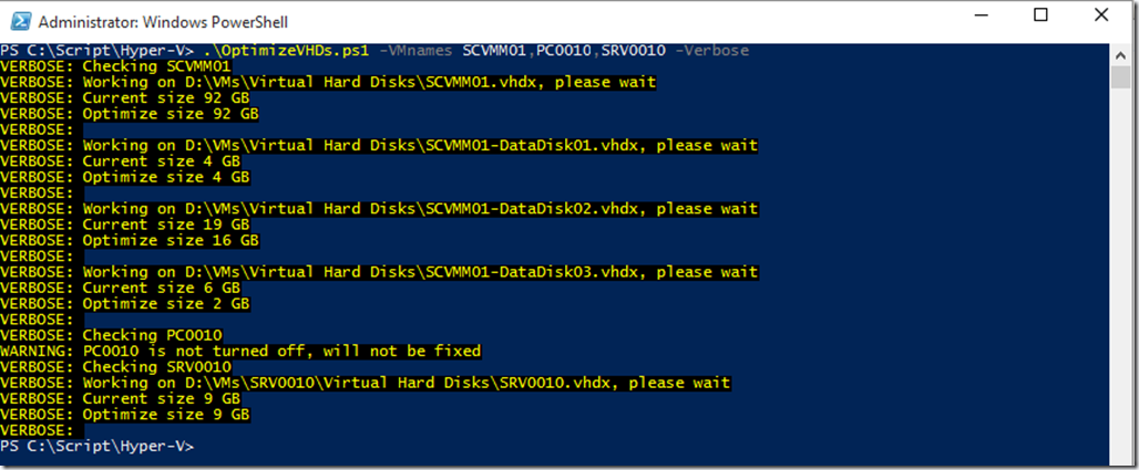 PowerShell is King – Compress, Compact, Optimize VHD and