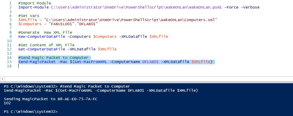 Working in the Datacenter – Wake on LAN using PowerShell