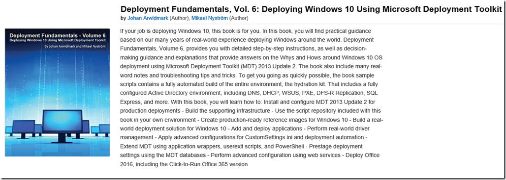 Deployment Fundamentals, Vol  6: Deploying Windows 10 Using