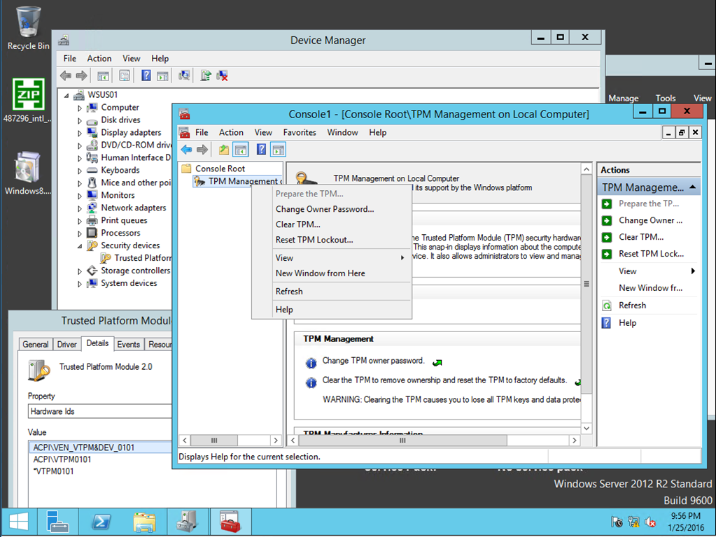 Working in the Datacenter–Enable Virtual TPM in Hyper-V