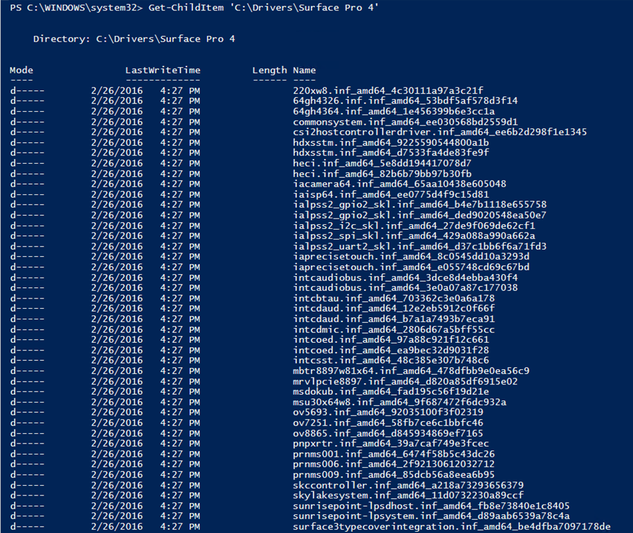 PowerShell is King – Export drivers from Windows – The