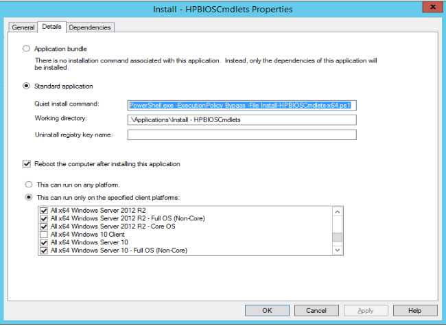 Working in the Datacenter – Application Wrapper for HP BIOS