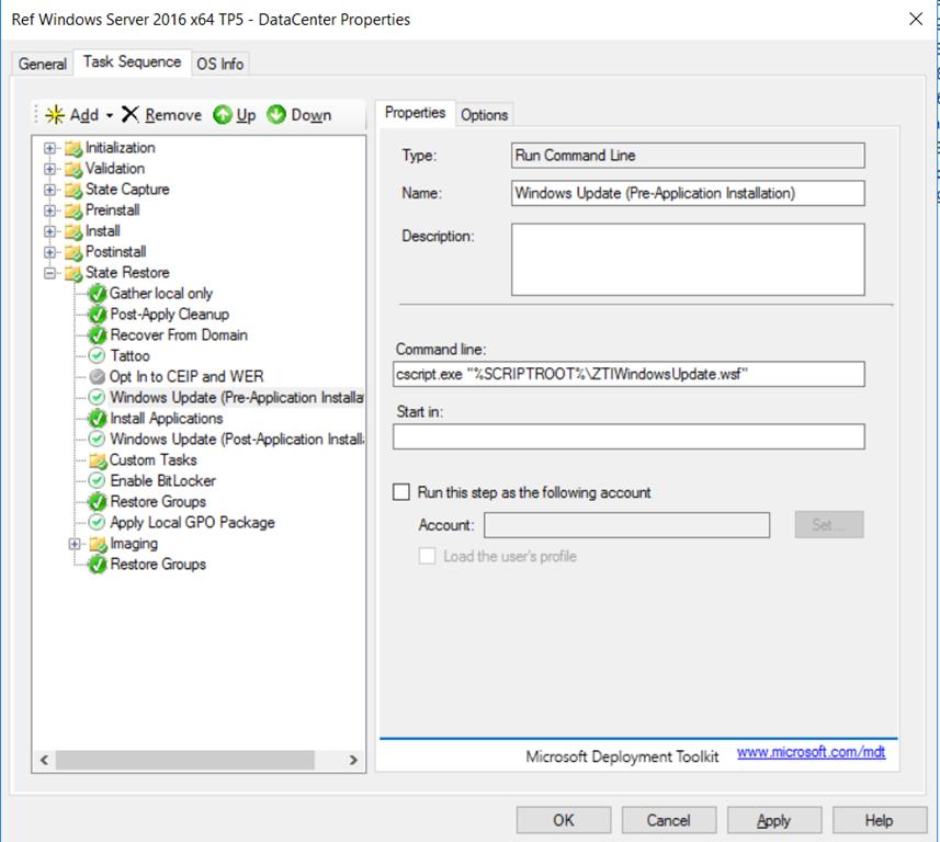 "OSD – Prevent Windows to ""randomly"" run Windows Update"