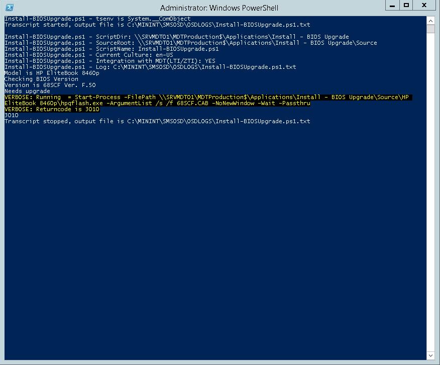OSD – BIOS upgrade during OS Deployment in MDT/ConfigMgr (v3