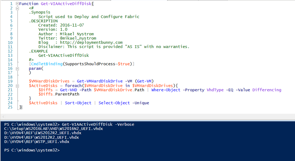 PowerShell is King – Find out what Differencing disks that