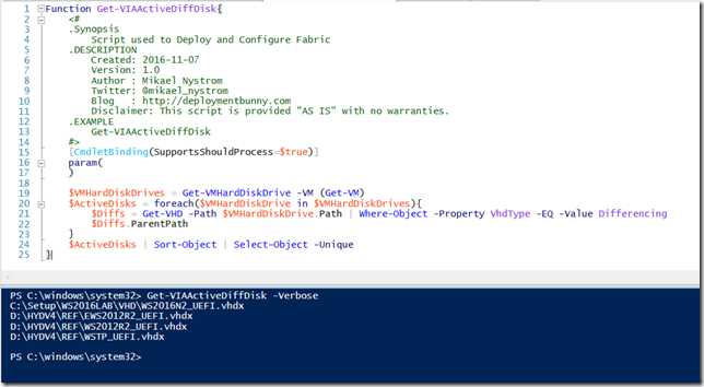 PowerShell is King – Find out what Differencing disks that are in
