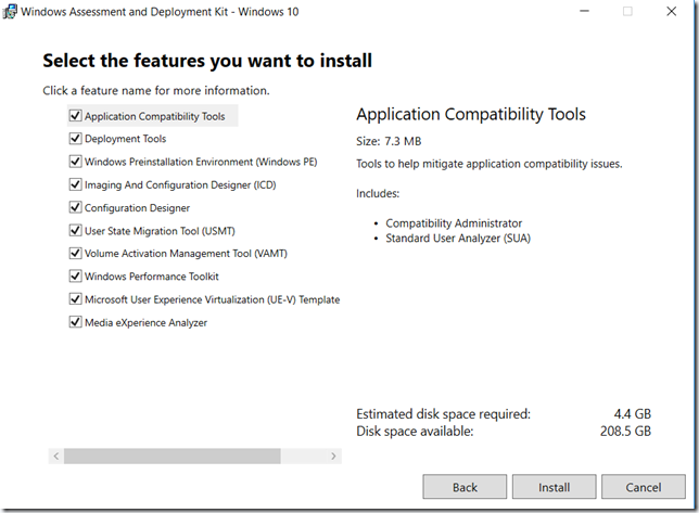 Install ADK 1703 on windows server 2016 - 1